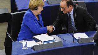 Angela Merkel, Francois Hollande