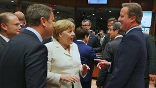 Xavier Bettel, Angela Merkel, David Cameron