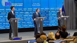 Mark Rutte, Donald Tusk, Jean-Claude Juncker
