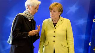 Christine Lagarde, Angela Merkel