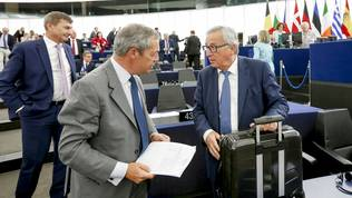 Nigel Farage, Jean-Claude Juncker