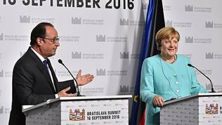 Francois Hollande, Angela Merkel