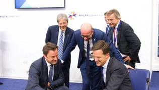 Xavier Bettel, Charles Michel, Mark Rutte
