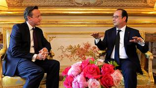 David Cameron, Francois Hollande